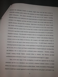 4-16-13 *** Pg9 Pg 9 Judge Barrett's Decision In Hamel's Case Barrett asserts Fraudulent cases were given to Oterh Lawyers at Dinkes & Schwitzer D&S IMG_1059