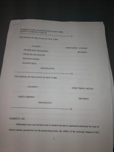 Pg1 Pg 1 of Judge Barrett's Decision Denying Dismissal of Hamel's Criminal Felony Case