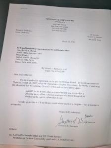Gustave Newman's Letter RE Hamel's Plea Bargain Hamel Pleading Guilty Pg1