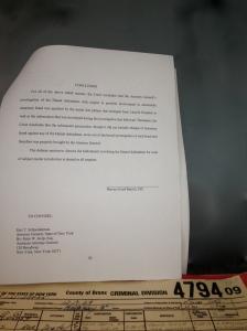 4-23-13 Last Page Pg of Judge Judge :Barrett's Decision Denying Hamel's Bid for Dismissal of His Criminal Felony Case IMG_1081