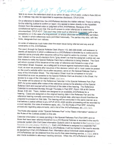 Taken from the public records,(this is one of the documents submitted in an OSC (Order to Show Cause submitted by the litigant in the public record) this is the document was taken from the ecourts website that specifies this Hearing has been suspended since 2011 that needs the consent of the parties involved, and that the litigant didn't consent to, yet the abusive tyrannical judge has ordered anyway. (Photo Courtesy of World-News-Media.com)