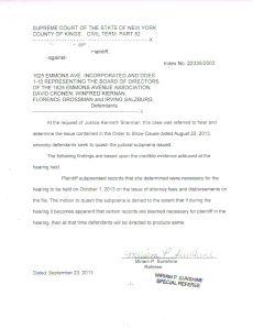 Senseless Sunshine's brodering on illegal Court Order of 9-23-13 Supporting and Reinforcing Subpoena for Crim. Facil. Hamel Testimony Photo Courtesy World-News-Media.com